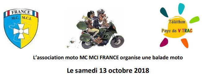 Balade moto avec Moto MC MCI FRANCE (association)